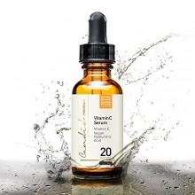 Mejor Serum Vitamina C para cara y los ojos, orgánico y natural, con vitamina E, ácido hialurónico y ferúlico, productos anti-ed