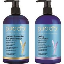 PURA D'OR Thérapie de prévention des pertes de cheveux Renforcer et Apaiser Combo