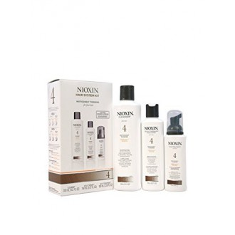 Nioxin System 4 Kit, Noticeably Thinning, Fine, Chemically-Treated Hair