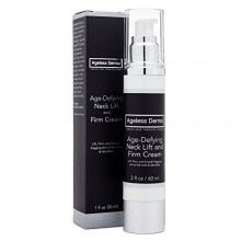 Ageless Derma Age-defying Neck Cream 2oz. This Neck Firming Cream Contains Sodium Hyaluronate and Peptides By Dr Mostamand