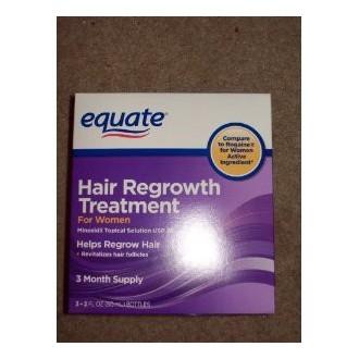 Equiparar - Tratamiento de la regeneración del cabello para mujeres con Minoxidil 2%, 3 mes de suministro (3 - 2 oz botellas)