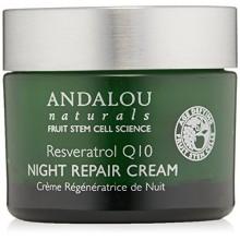 Andalou Naturals Resveratrol Q10 Noche Crema Reparadora, 1,7 onza