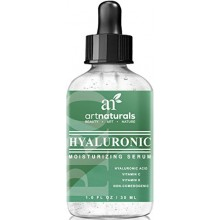 Arte Naturals® Ácido Hialurónico Suero 1 oz los MEJORES contra el envejecimiento cuidado de la piel para la cara Clinical Stren