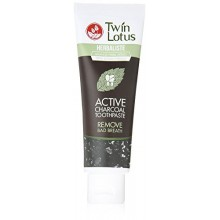 Twin Lotus carbón activo Pasta de dientes Herbaliste Triple Action 100 g (3,52 Oz) X 1 Tubo