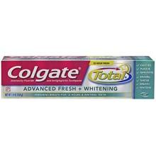 Colgate Total Advanced Fresh + Gel de blanqueamiento de pasta de dientes, 5,8 onza (paquete de 2)