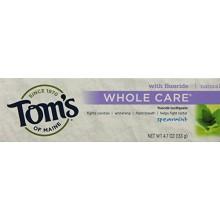 Tom de Maine Total Care fluoruro de pasta de dientes de menta verde, 4,7 onza, 2 Count