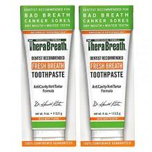TheraBreath dentista recomendado Fresh Breath la boca seca de pasta de dientes, Suave menta, de 4 onzas (paquete de 2)