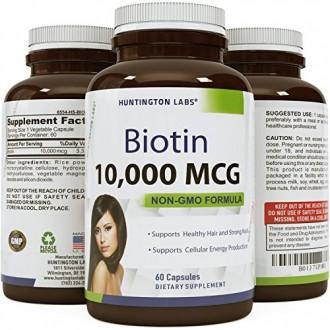 Naturelle et pure biotine pour la croissance des cheveux chez les hommes et les femmes - Perte de cheveux Combat + Perte de poid