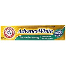 Arm & Hammer Advance Blanc Breath Freshening, Frosted Mint, 6 Oz (Pack de 2)