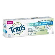 Sensitive Dentifrice naturel du Maine Rapid Relief Tom Pack Multi, menthe fraîche, 2 Count