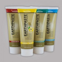 Redmon Earthpaste Natural Toothpastec 4 PACK !! (Citron, Wintergreen, cannelle, menthe poivrée)