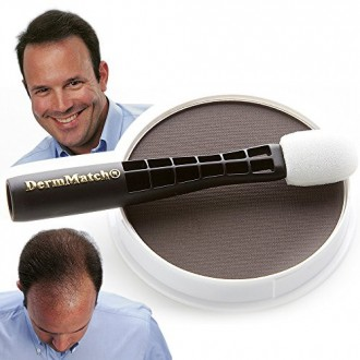 DermMatch: Thickest Hair On Earth. Natural Hair Loss Concealer For Men & Women (Dark Brown)