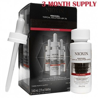 El tratamiento nuevo crecimiento del pelo Nioxin Minoxidil el 2% de las mujeres, de 6 onzas
