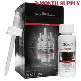 Nioxin Minoxidil cheveux Repousse Traitement pour 2% des femmes, 6 Ounce