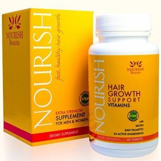 Nutrir suplemento de pérdida de pelo Beaute - con biotina y Naturales bloqueadores de DHT - Más rápido, más grueso regeneración