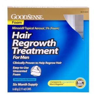 GoodSense Minoxidil Topical Aerosol Foam Hair Regrowth Treatment 12.66 Ounce