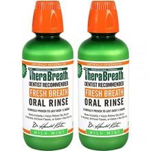 TheraBreath dentista Recomendado Breath Fresh Oral Rinse - leve sabor a menta, de 16 onzas (paquete de 2)