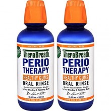 TheraBreath Dentist Recommended PerioTherapy HEALTHY GUMS Oral Rinse, 16.9 Ounce (Pack of 2)