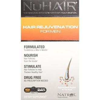 NuHair nuevo crecimiento del pelo tabletas, Hombres, 60-Count Box