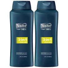 Hommes Suave 3-in-1 Shampooing + revitalisant + Body Wash - Citrus Rush - 28 oz - 2 pk