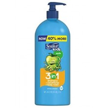 Suave Kids 3 in 1 Shampoo Conditioner Body Wash, Pump, Apple (40 Oz)