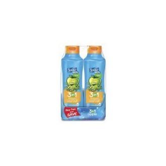 Suave Kids Apple 3 in 1 Shampoo + Conditioner + Body Wash (2) 22.5 Fl OZ Bottles