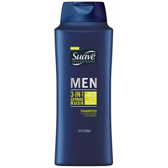 Suave Professionals Mens, 3 en 1 shampoing / / Body Wash, Citrus Rush, 28 oz