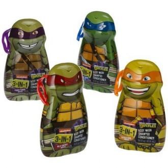 Teenage Mutant Ninja Turtles 3-in-1 Body Wash, shampooing et revitalisant 4-Pack (un de chaque personnage)