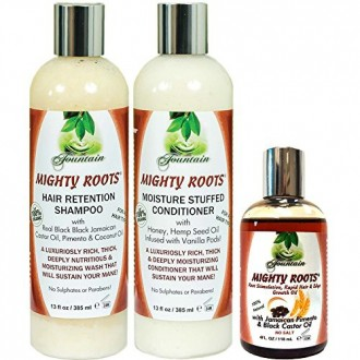 Fountain Mighty Roots Pimento JBCO 4oz with Shampoo and Conditioner 13oz Combo