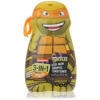 Tortugas ninja - TMNT - 3 en 1 Gel de baño, champú, acondicionador