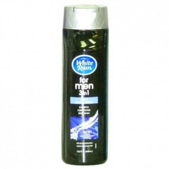 White Rain 3-IN-1 (Shampoo, Conditioner Body Wash for Men) Cool Ocean 16.9oz (Pack of 12)