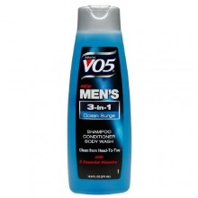 Alberto VO5 Mens 3-EN-1 Shampoo, Conditioner & Body Wash, Ocean Surge 12,5 onces liquides (Pack de 3)