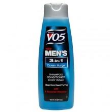 Alberto VO5 Mens 3-en-1 champú, acondicionador y gel de baño, Océano sobretensiones 12,5 oz fl (Pack de 3)