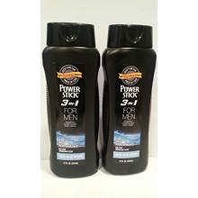 Puissance Bâton 3 en 1 pour homme Shampooing Revitalisant Body Wash Cool Blue Eau 18 oz 50% de Bonus Plus (Pack 2)