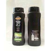 Puissance Bâton 3 en 1 pour homme Shampooing Revitalisant Body Wash printemps frais 18 oz 50% de Bonus Plus (Pack 2)