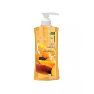 Secretos perfumados 3 en 1 champú, acondicionador y gel, Mango Mandarin, de 32 onzas