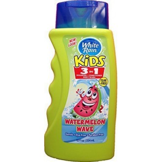 White Rain Kids 3in1 Zany Watermelon Shampoo, Conditioner and Body Wash 12 oz (Pack of 2)