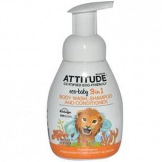Little Ones 3 en 1 Body Wash shampooing et revitalisant grenade 10 Onces par ATTITUDE