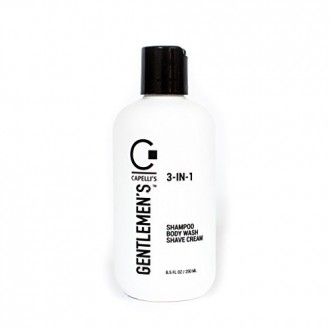 Capelli's Gentlemen's 3-IN-1 Shampoo/Body Wash/Shave Cream Rich Lather for All Hair Types, 8.5 FL OZ