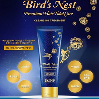 SNP Bird`s Nest Premiun cheveux Total Care Cleansing Treatment 250ml / All in One