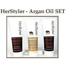Herstyler Set of 3- Shampoo, Conditioner and Heat Protective Heat Cream