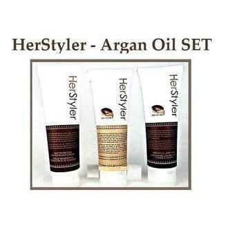 Herstyler Conjunto de 3- champú, acondicionador y crema protectora de calor Heat