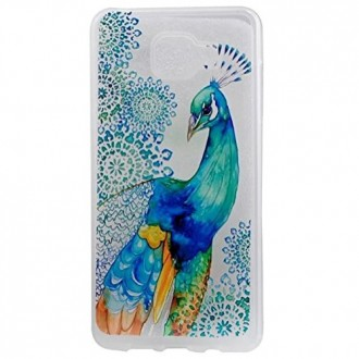 S7 Edge Case, UCLL Peacock Design Slim Flexible Cute Cover for Samsung Galaxy S7 Edge