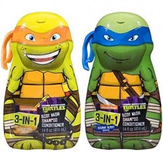 Tortugas Ninja 3-in-1 Body Wash Champú y acondicionador (2 Pack)