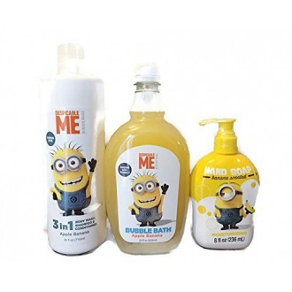 Despicable Me Minion baño Bundle - 3 Artículos: 3 en 1 Body Wash / champú / acondicionador, Baño de espuma, jabón de manos