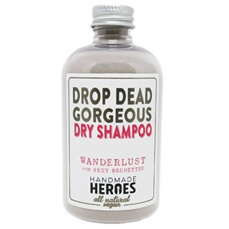 All Natural Vegan Dry Shampoo - Drop Dead Gorgeous Dry Shampoo Powder for Dark Hair Brunettes and Light Hair Blondes (2.4