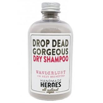 All Natural Vegan Dry Shampoo - Drop Dead Gorgeous Shampooing sec en poudre pour Dark Brunettes Cheveux et légères Blondes Cheve