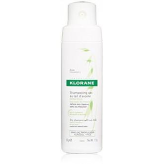 Klorane Champú en seco con leche de avena - No Aerosol - Todo tipo de cabellos, 1.7 oz.