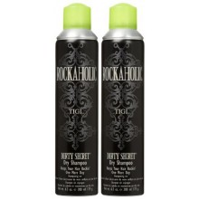 TIGI Rockaholic Dirty Secret Champú Seco, 6.3 oz, 2 pk