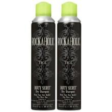 TIGI Rockaholic sale secret Shampooing sec, 6,3 oz 2 pk